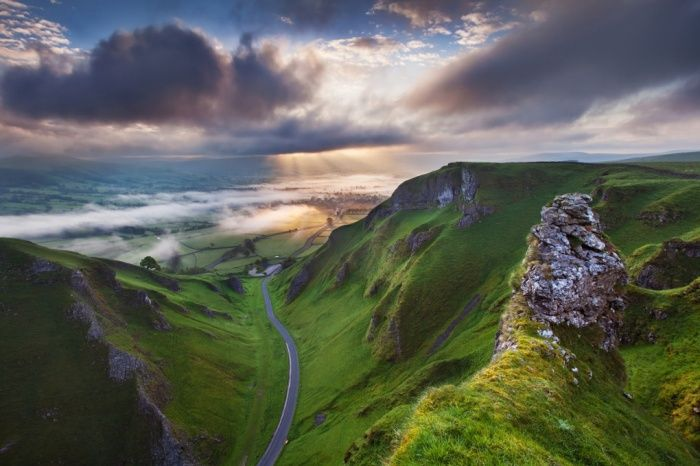 Sunrise at Winnats Pass, Derbyshire,  winner of the Visit Britain 'You're invited' Award for the best image from an overseas entrant category