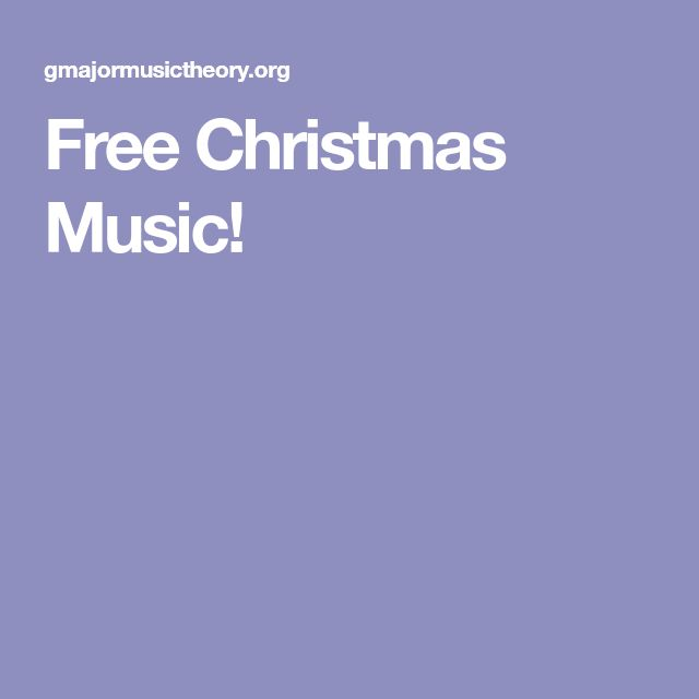 Free Christmas Music!
