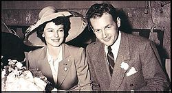 Ruth Hussey and her husband Bob Longenecker