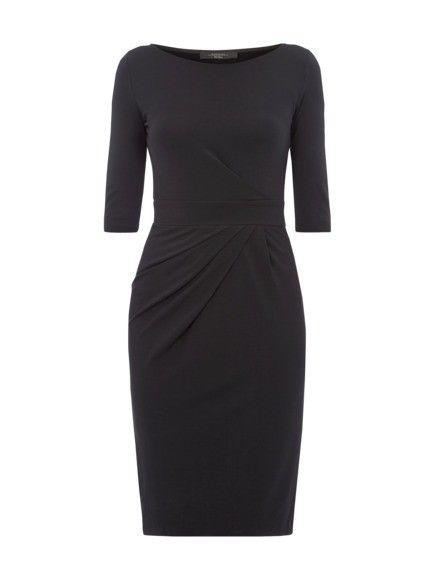 MAX MARA WEEKEND Kleid mit Dreiviertelarm in Schwarz   FASHION ID Online Shop