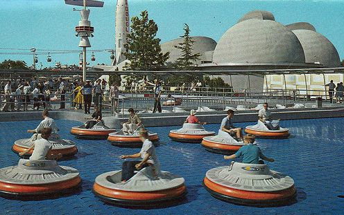 Vintage disneyland ride, Flying Saucers. the ride was only in operation from 1961 to 1965.