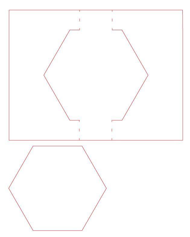 Free Svg Amp Silhouette Studio Cut File Hexagon Swing Card