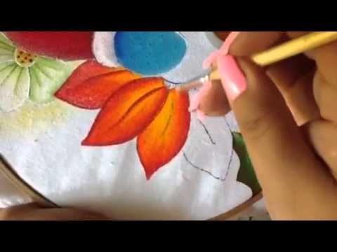 Pintura en tela en este video te enseño a realizar una hermosa nochebuena te invito a llevar a cabo esta hermosa labor..básico