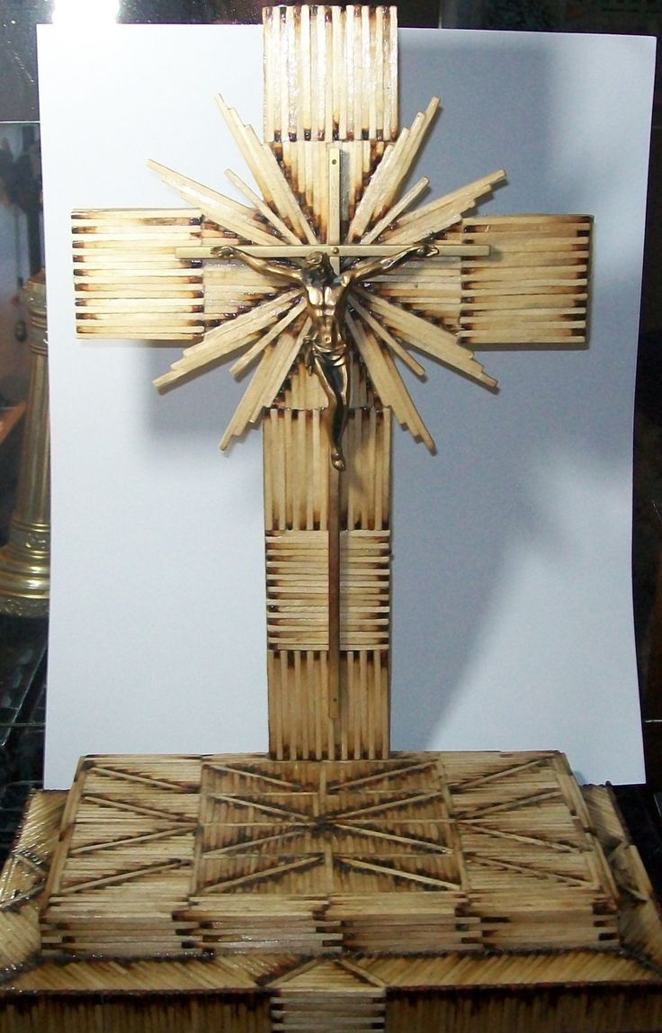 Popsicle stick church craft - Beautiful Cross
