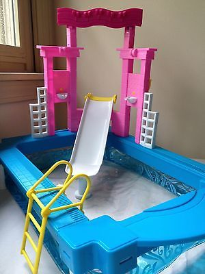 1000 images about barbie swimming pools on pinterest barbie dream barbie and pools for Barbie doll house with swimming pool