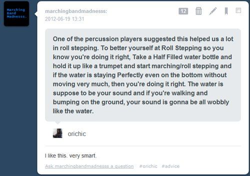 I'm not in marching band YET but I'm starting this summer and I have a feeling this will be really useful!