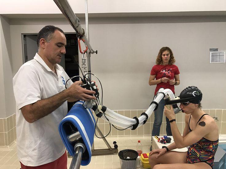 Gran semana de Valoración de #vo2 en #natación en swimming flume (universidad Murcia)