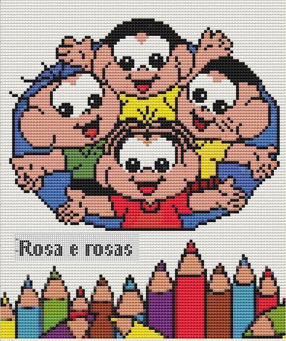 Famiglia e artistico: punto croce Monica