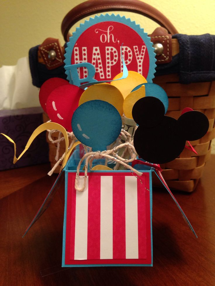 Pop Up Card With A Mickey Mouse Theme Pop Up Box Cards