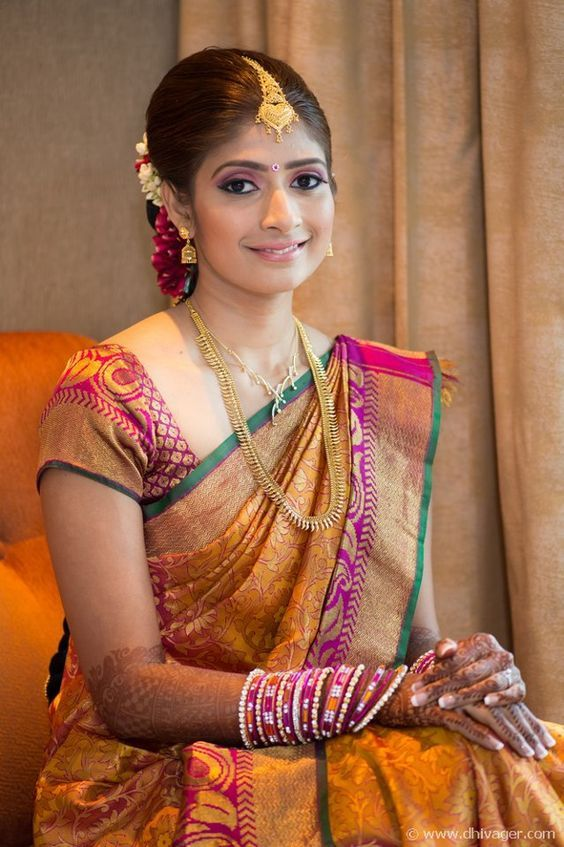 Lovely ‪#‎SouthIndian‬ ‪#‎Bridal‬ ‪#‎Makeover