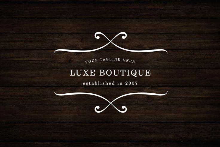 Luxe Boutique Logo - APLICAÇÕES SUPORTADAS  Adobe Illustrator, Adobe Photoshop  TIPOS DE ARQUIVO  AI, EPS, PSD - IA Produtos