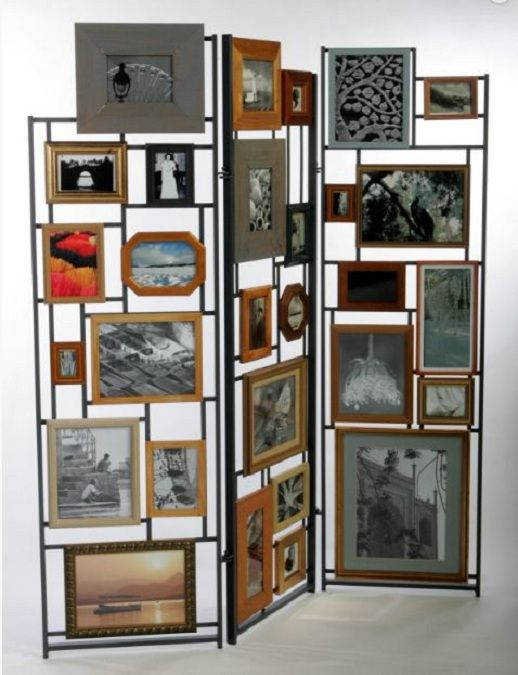 Lovely room screen made from old photo frames. By Furniture Magpie