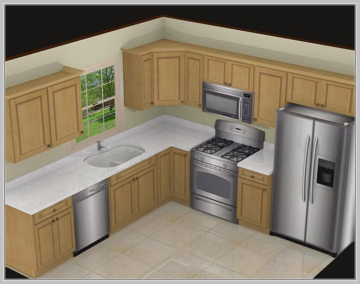 Superior Awesome 10X10 Kitchen Designs With Island Part 11