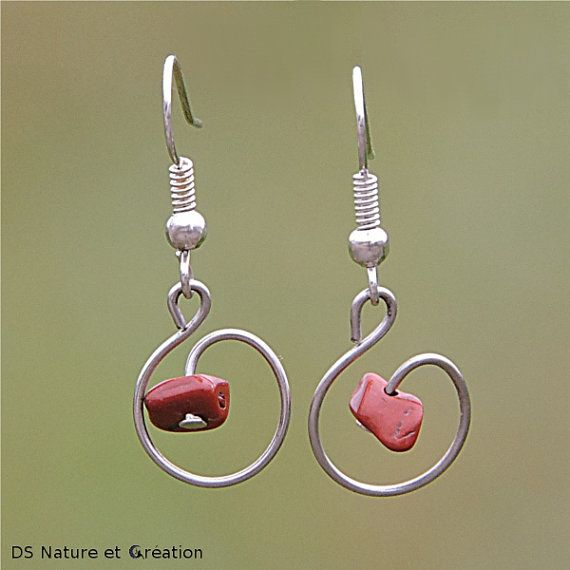 Bijoux jaspe rouge boucles d'oreilles jaspe by DS Nature et Creation www.etsy.com/shop/DSNatureetCreation