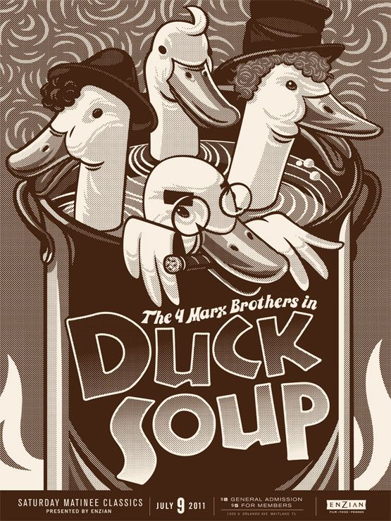 Cult Classic Movies / Duck Soup / Lure Design Poster Store