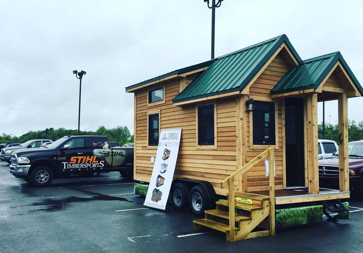 We have arrived at The @officialstihltimbersports Lumberjack Competition at Mylan Park in Morgantown WV! We will be here all weekend come tour our Roving model!  #84tinyliving #84lumber #tinyhouse #tinyhome #roving #tinyhousemovement #tinyhomes #tinyhouses #tinyliving by 84tinyliving