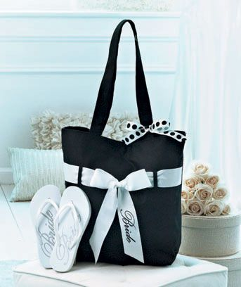 Wedding Tote And Flip Flop Sets
