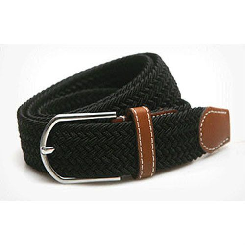 Golf Belt Black Navy Woven Elastic Stretch Waist Band Sports Fashion Casual BB02 #Unbranded
