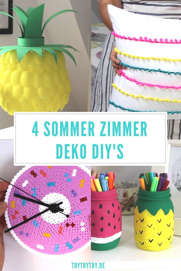 4 Sommer Zimmer Deko DIY's! Selbermachen, Diy basteln