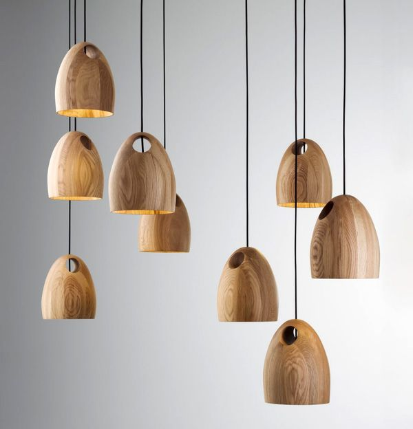 Wonderful Ross Gardham oak pendant lights, perfect for modern, rustic or transitional spaces...