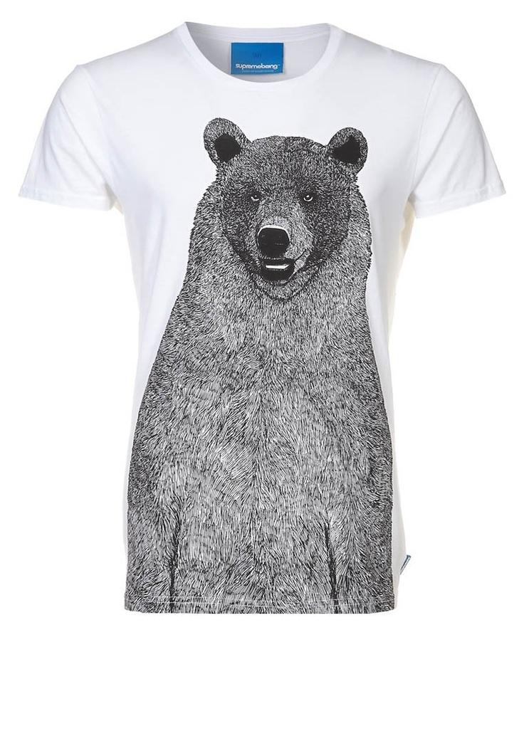 supreme Being MONTBAR - T-shirt imprimé - blanc 30€  ?????????