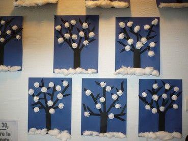 Ecole de Quintal - Les créations des G.S/C.P sur le thème de l'hiver.
