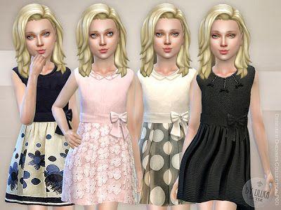 The Sims 4 by Kasia: Śliczne sukienki dla dziewczynek