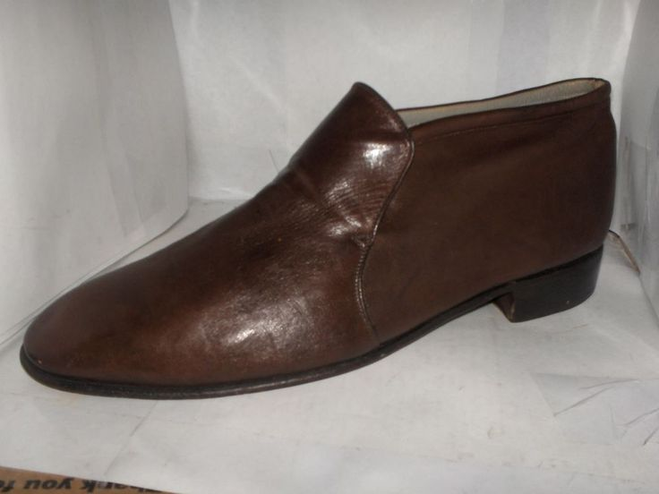 FLORSHEIM MENS BROWN CALF LEATHER ANKLE BOOTS SIZE 9.5 M FROM ITALY #FLORSHEIM #ANKLEBOOTS