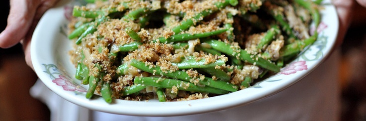 Umamilicious Green Bean Casserole Recipe from Michelle Bernstein  Shiitake mushrooms, jamón Serrano and caramelized fennel make this casserole truly umamilicious