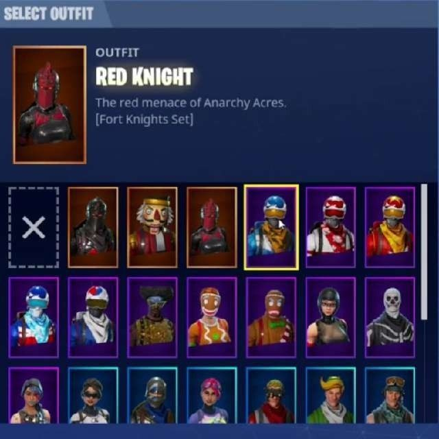 red knight and skull trooper fortnite account raffle - fortnite account lookup