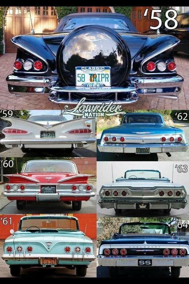 Impala Rear Ends Classic Cars Chevy Impala