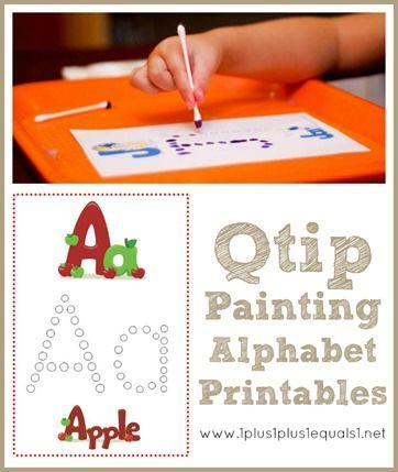 Q-Tip Painting Alphabet Printables {free}