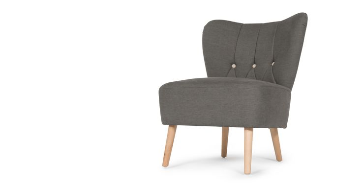 Charley Accent Chair, Graphite Grey | made.com