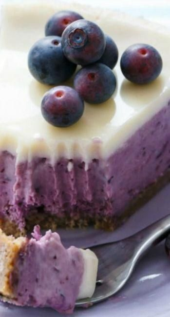 Blueberry Crème Fraîche Cheesecake #cheesecakerecipes
