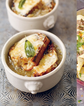 English onion soup with sage and cheddar - Jamie Oliver
