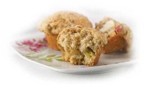 Home Hardware - Rhubarb Ricotta Muffins