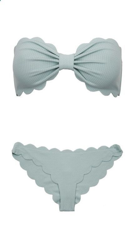 Seafoam Scalloped Bikini