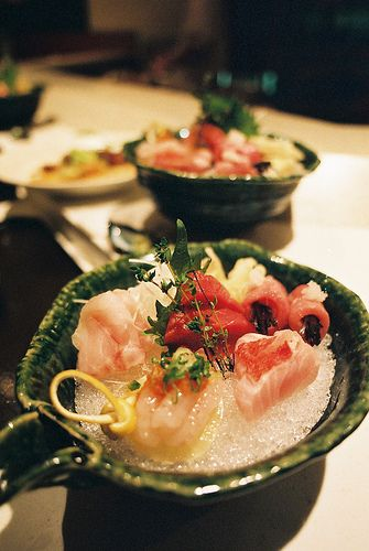 Japanese food -sashimi-: photo by Smaku, via Flickr