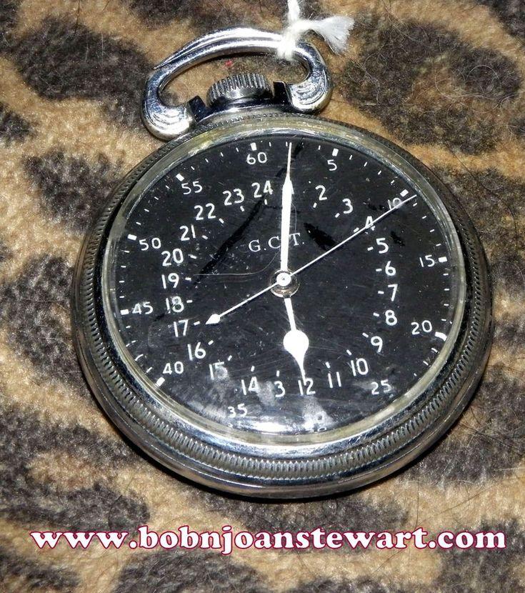 for sale www.bobnjoanstewart.com Hamilton 4492B 22J 24 hour Military dial pocket watch #Hamilton #Military