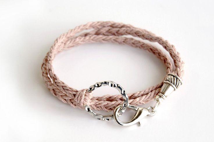 Fai da te idee canapa braccialetto braccialetto-ingegnosi con stringa - Pandahall