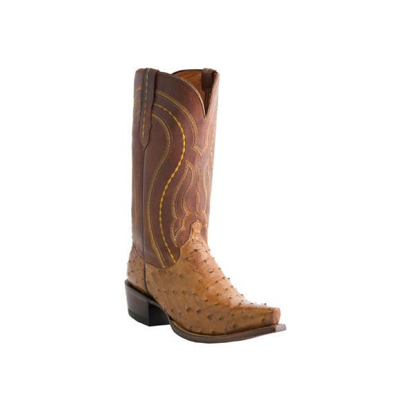 Men's Lucchese Since 1883 M1606 Squared Off Toe Cowboy Heel Boot ($645) ❤ liked on Polyvore featuring men's fashion, men's shoes, men's boots, casual, cowboy boots, tan, mens tan boots, mens western boots, mens square toe shoes and mens tan shoes