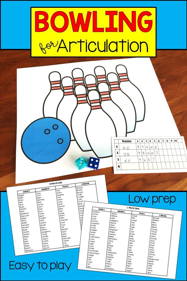 This Fun Bowling Themed Speech Therapy Activity Is An Easy And Engaging Game For Working On T Speech Therapy Games Speech And Language Speech Therapy Materials