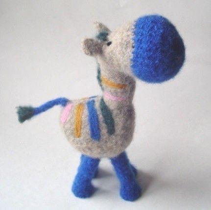 Felted Amigurumi Tutorial : PATTERN PDF Crocheted and Felted Zebra Amigurumi Pattern ...
