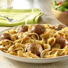 Swedish Meatball Skillet Recipe Main Dishes with ground beef, plain dry bread crumb, milk, eggs, water, knorr pasta side beef
