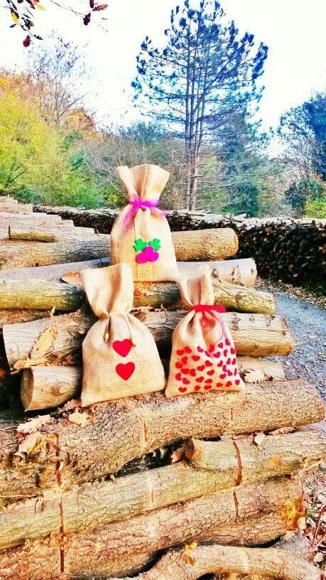 #hediye paketi #çuval bezi #burlap