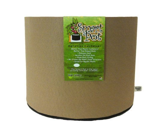 Smart Pots 10 Gallon Smart Pot Soft Sided Container, Tan .
