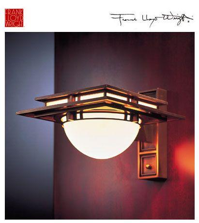 Yamagiwa: Frank Lloyd Wright Lighting Robie Brass Wall Sconce - Designed by Frank Lloyd Wright in 1906.