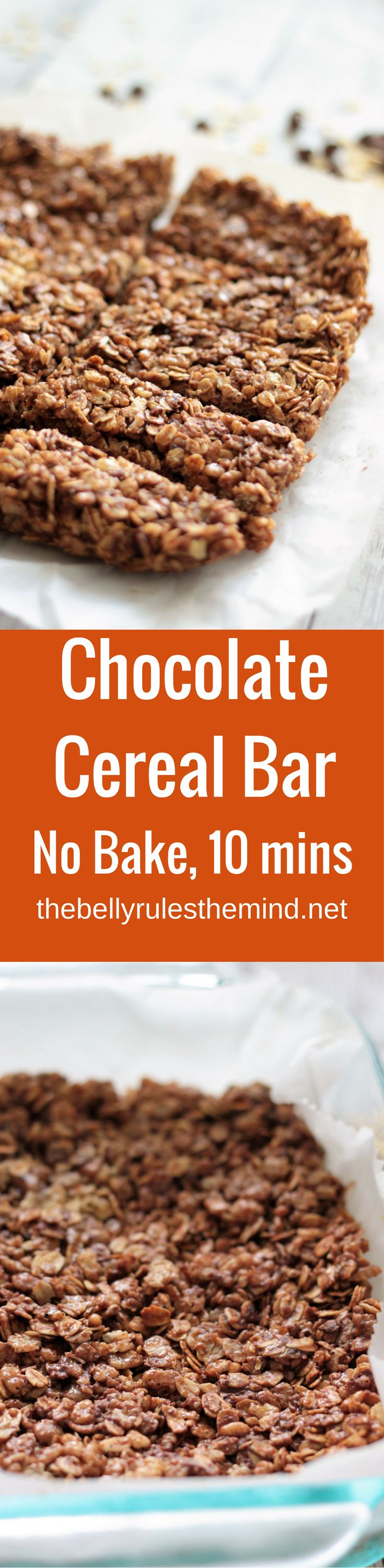 Homemade cereal bars that are quick (no-bake), easy and nutritious. Ready in just 10 minutes, they make a great go-to snack option too. Once you are hooked onto these, you will stop buying cereal bars from the store |www.thebellyrulesthemind.net @bellyrulesdmind