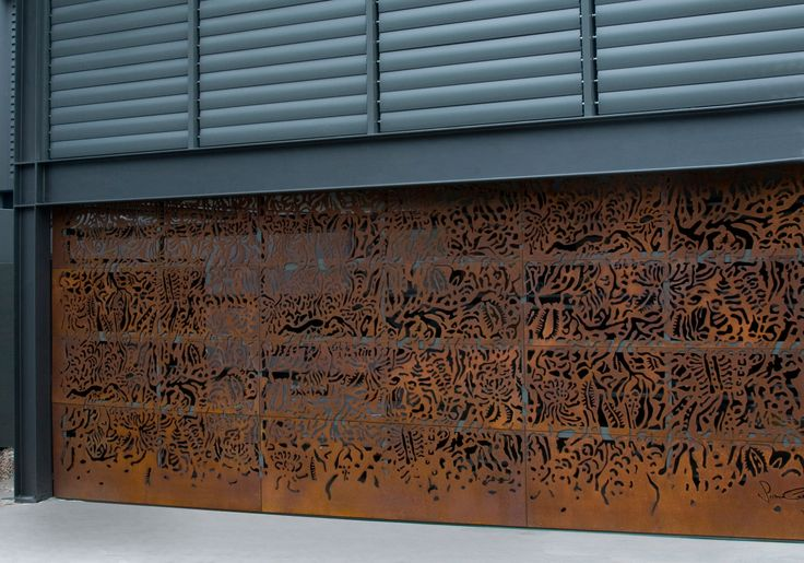 Axolotl Metal Garage Door Rust Router Cut Design