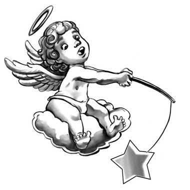 tatuaggio angelo con stellina.jpg (380×380)